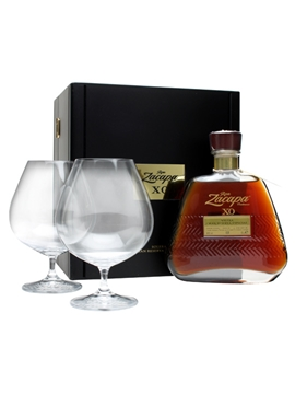 Ron zacapa centenario xo rum wooden box w glasses the for Food bar zacapa