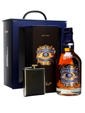 Chivas Regal 18 Year Old and Hipflask Set