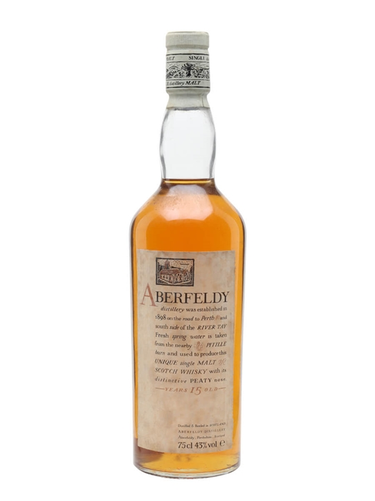 Aberfeldy 15 Year Old / Bot.1980s Highland Single Malt Scotch Whisky