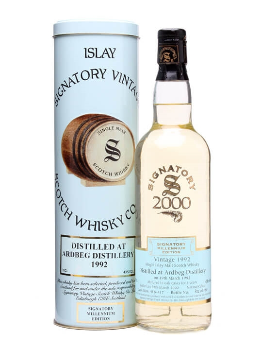 Ardbeg 1992 / 8 Year Old / Signatory Millennium #416-417 Islay Whisky