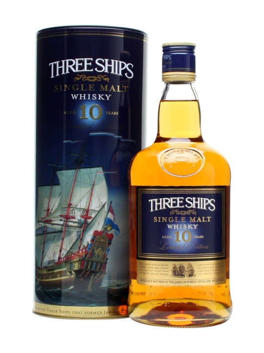 Three Ships 10 Year Old / African Single Malt Whisky South Whisky