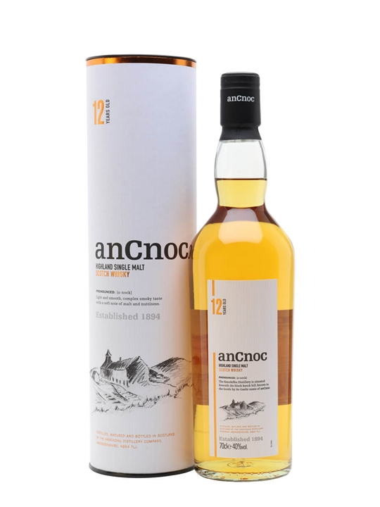An Cnoc 12 Year Old Speyside Single Malt Scotch Whisky
