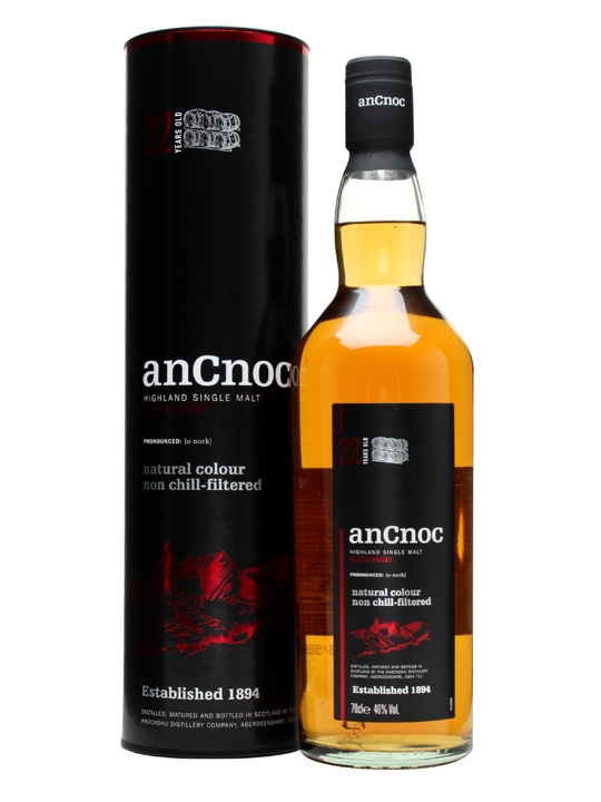 An Cnoc 22 Year Old Highland Single Malt Scotch Whisky