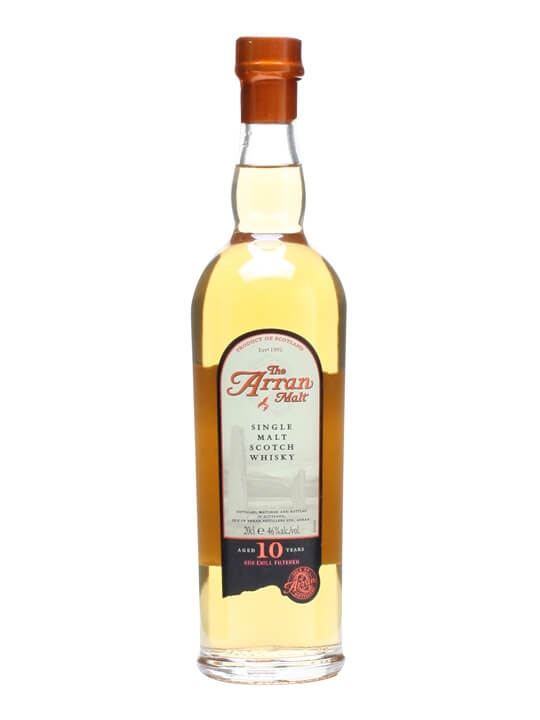 Arran 10 Year Old / Small Bottle Island Single Malt Scotch Whisky
