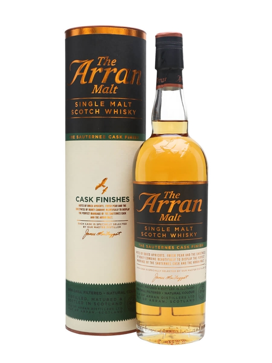 Arran Cask Finishes / Sauternes Island Single Malt Scotch Whisky