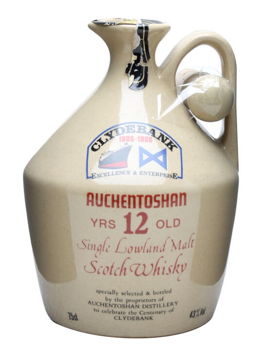 Auchentoshan 12 Year Old / Clydebank Ceramic Lowland Whisky
