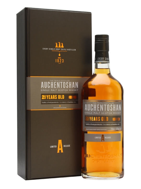 Auchentoshan 21 Year Old Lowland Single Malt Scotch Whisky