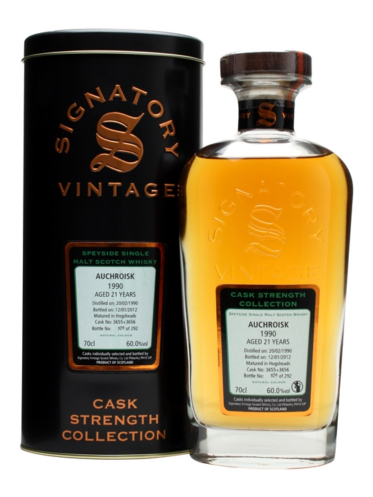 Auchroisk 1990 / 21 Year Old / Cask #3655+6 / Signatory Speyside Whisky