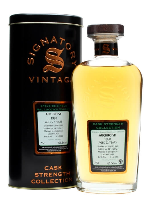 Auchroisk 1990 / 22 Year Old / Cask #3658 Speyside Whisky