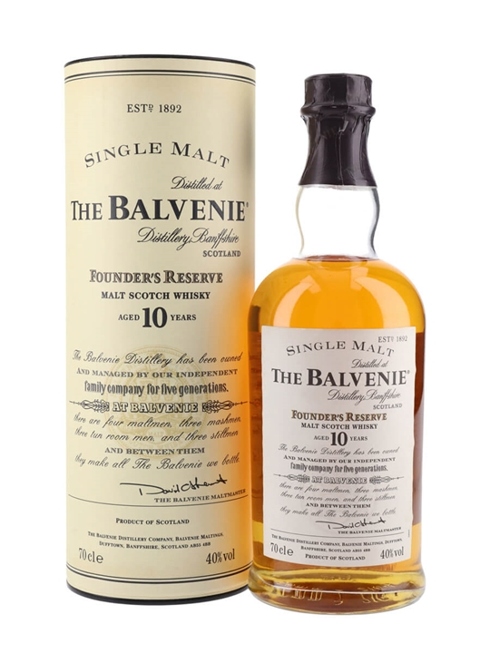 Balvenie 10 Year Old / Founder's Reserve Speyside Whisky