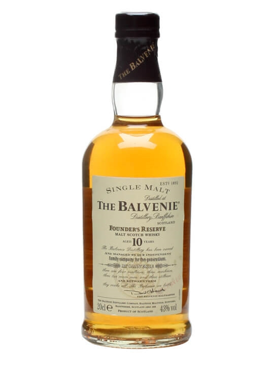 Balvenie 10 Year Old Founder's Reserve / Small Bottle Speyside Whisky