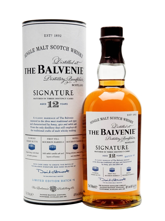Balvenie 12 Year Old Signature Speyside Single Malt Scotch Whisky
