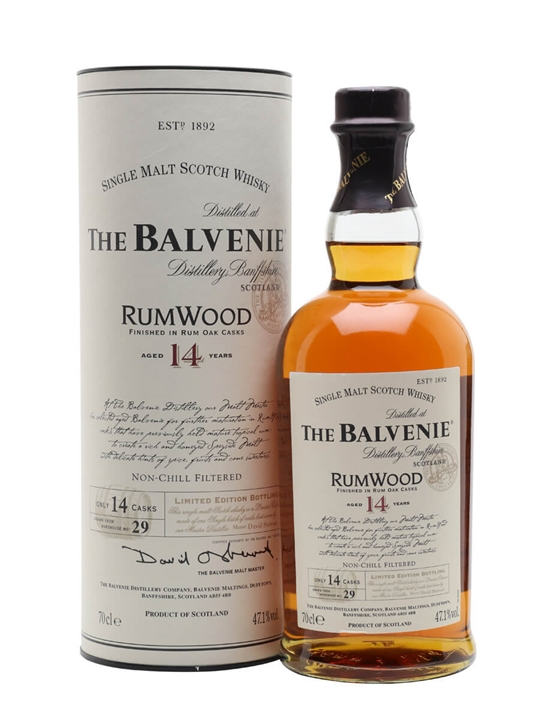 Balvenie 14 Year Old / Rum Wood Finish Speyside Whisky