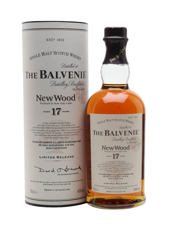 Balvenie 17 Year Old / New Wood Speyside Single Malt Scotch Whisky