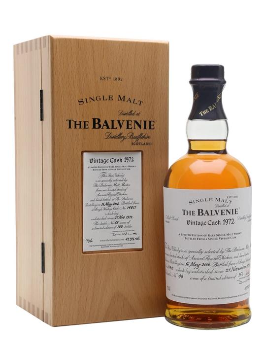 Balvenie 1972 Speyside Single Malt Scotch Whisky