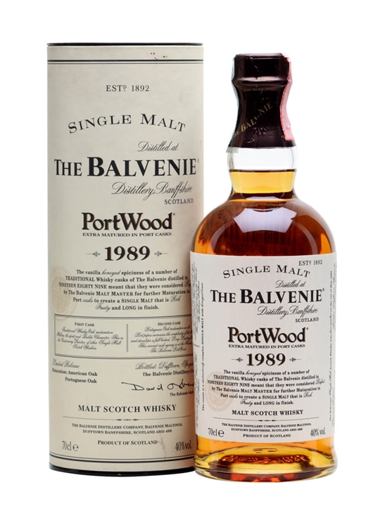Balvenie 1989 / Port Wood Speyside Single Malt Scotch Whisky