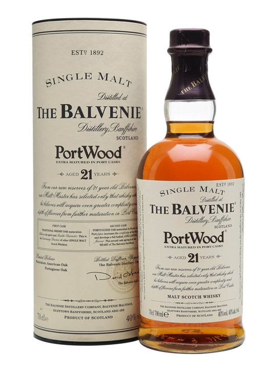 Balvenie 21 Year Old / Port Wood Finish / First Release Speyside Whisky