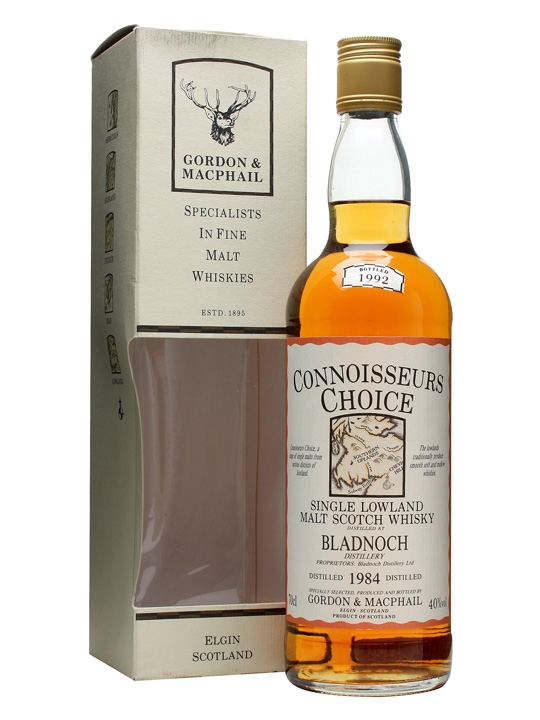 Bladnoch 1984 / Bot.1992 / Connoisseurs Choice Lowland Whisky