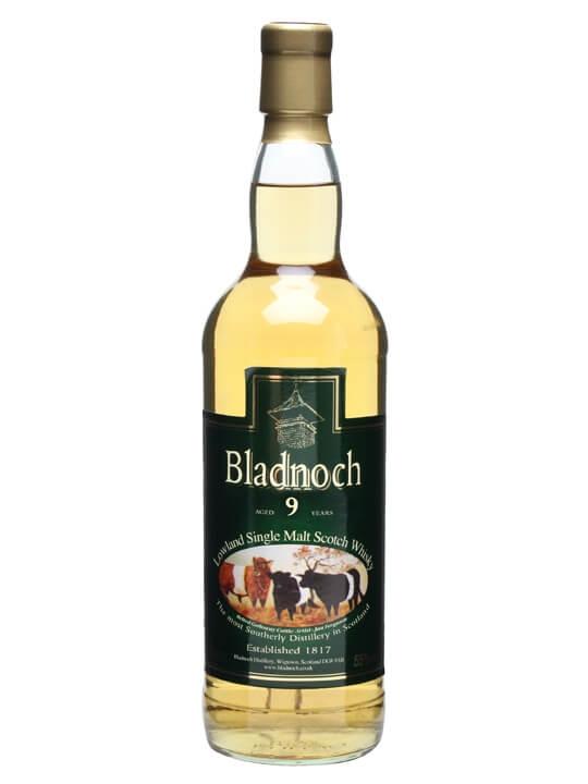 Bladnoch 9 Year Old / Cow Label Lowland Single Malt Scotch Whisky