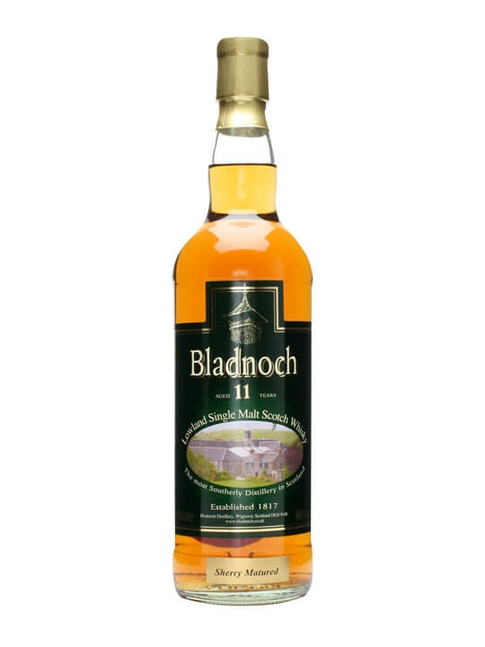 Bladnoch 11 Year Old / Distillery Label / Sherry Matured Lowland Whisky