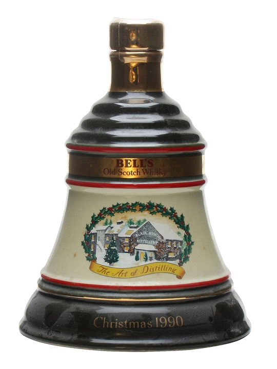 Bell's Christmas 1990 Decanter / Unboxed Blended Scotch Whisky
