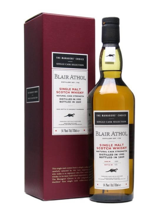 Blair Athol 1995 / Managers' Choice / Sherry Cask Highland Whisky