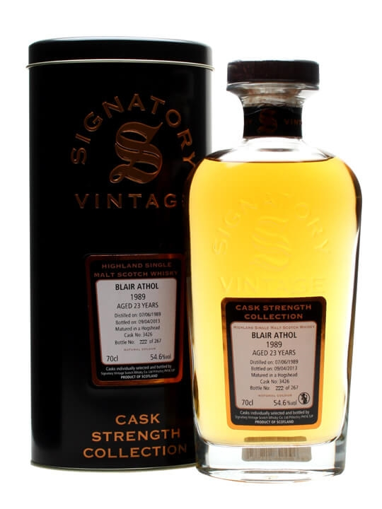 Blair Athol 1989 / 23 Year Old / Cask #3426 / Signatory Highland Whisky