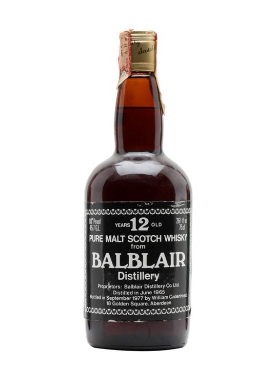 Balblair 1965 / 12 Year Old / Cadenhead's Highland Whisky