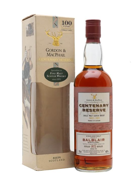Balblair 1973 / Centenary Reserve / Gordon & Macphail Highland Whisky