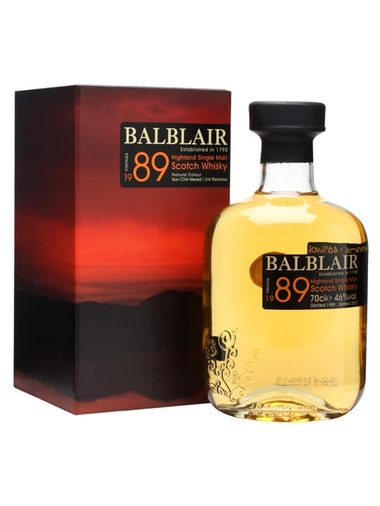 Balblair 1989 / 3rd Release Highland Single Malt Scotch Whisky