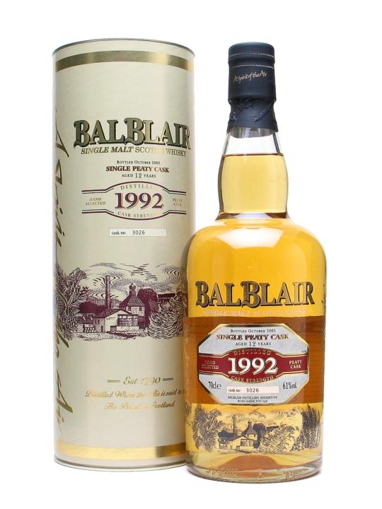Balblair 1992 / 12 Year Old / Peaty Cask Highland Whisky