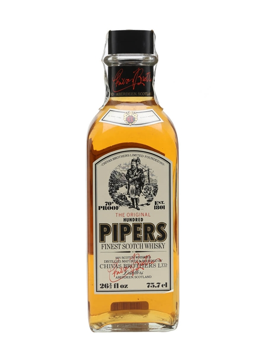 100 Pipers / Bot.1980s / Square Bottle Blended Scotch Whisky