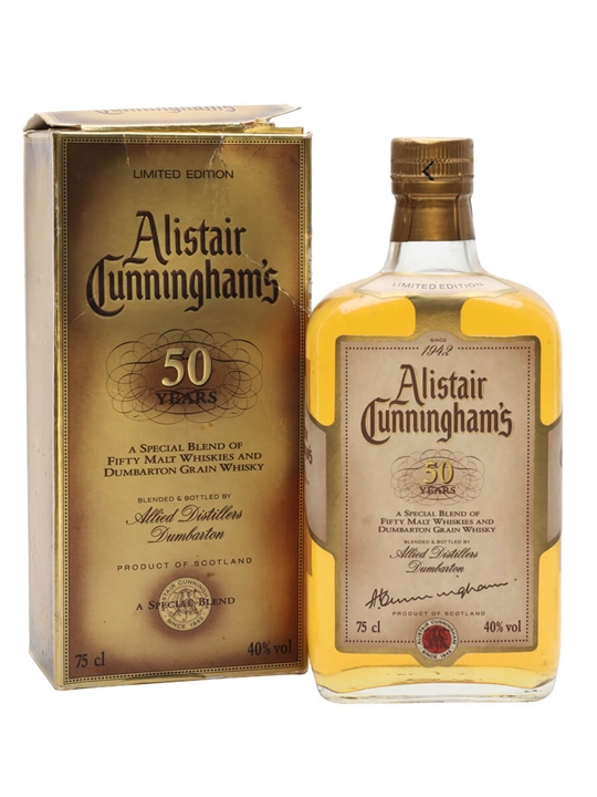 Alistair Cunningham's 50 Years Blended Scotch Whisky