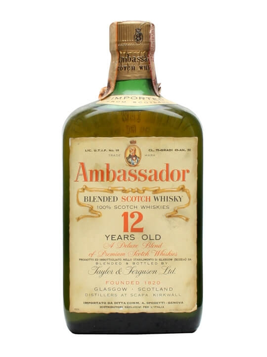Ambassador 12 Year Old / Bot.1960s Blended Scotch Whisky
