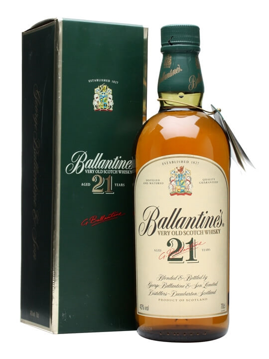Ballantine's 21 Year Old / Old Presentation Blended Scotch Whisky