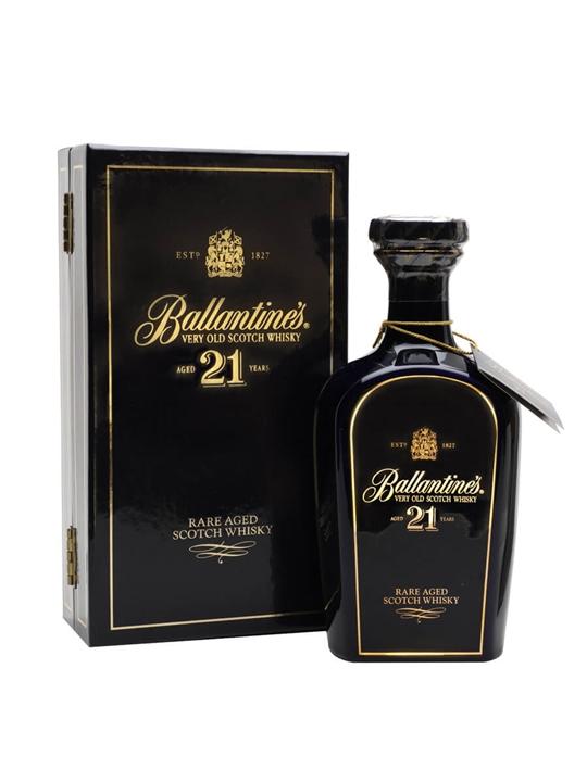 Ballantine's 21 Year Old / Blue Ceramic / Half Litre Blended Whisky