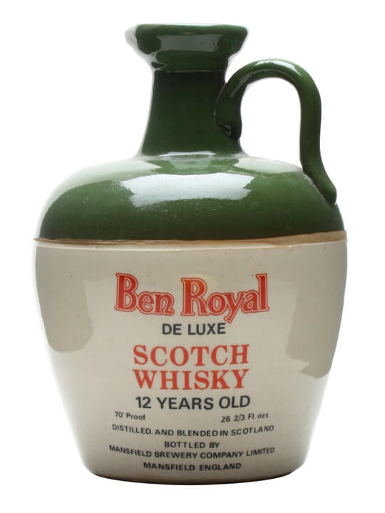 Ben Royal 12 Year Old Ceramic Jug / Queen's Jubilee 1977 Blended Whisky