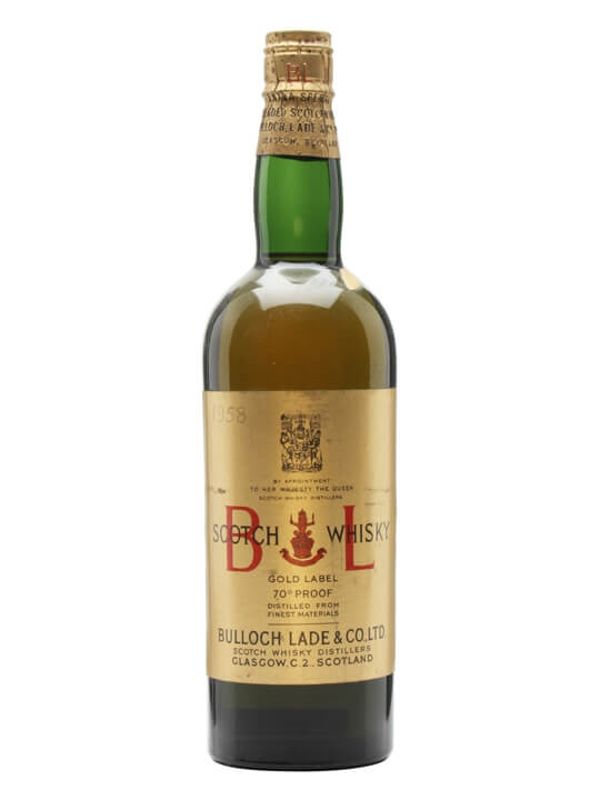 Bulloch Lade's Gold Label / Bot.1950s / Spring Cap Blended Whisky