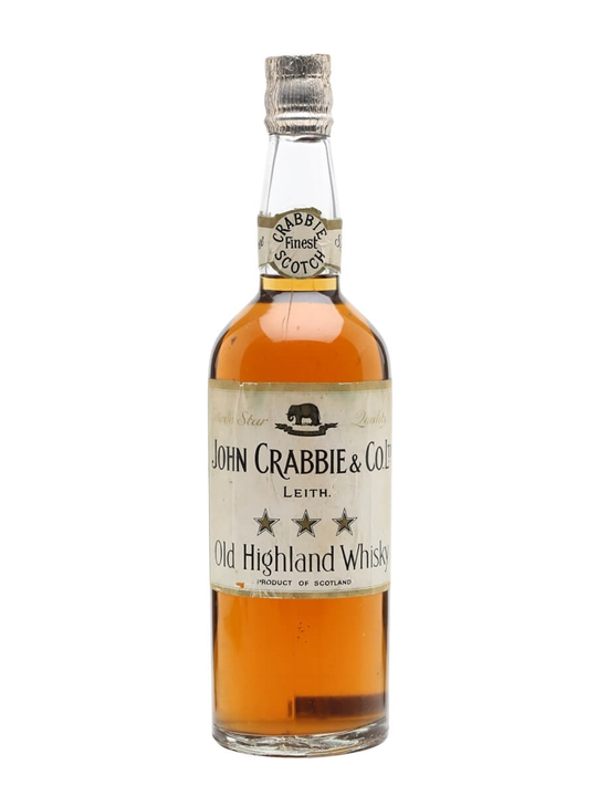 John Crabbie & Co Ltd. 3 Star Whisky / Bot.1940s