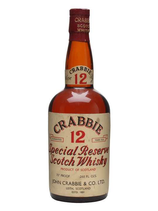 Crabbie's 12 Year Old Special Reserve / Bot.1950s