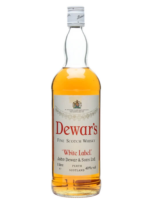 Dewar's White Label / Bot.1980s / Litre Bottle Blended Scotch Whisky