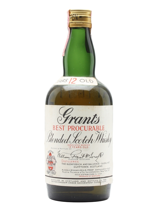 Grant's 12 Year Old / Best Procurable / Bot.1950s Blended Whisky