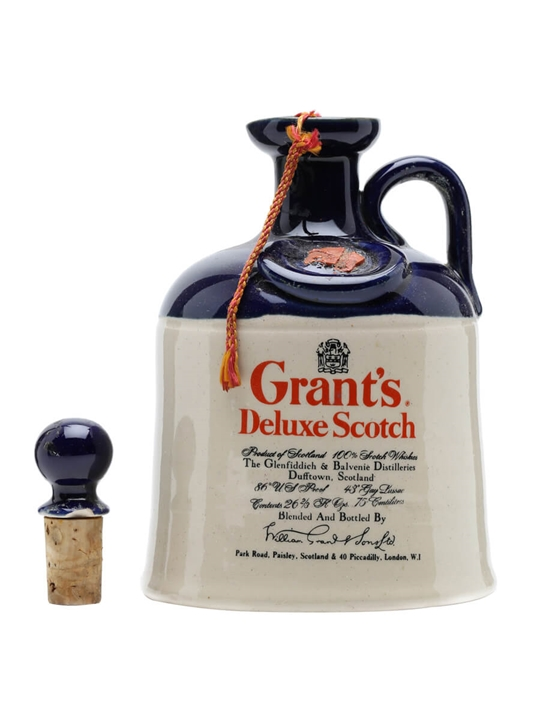Grant's Deluxe Ceramic Decanter / Bot.1970s Blended Scotch Whisky