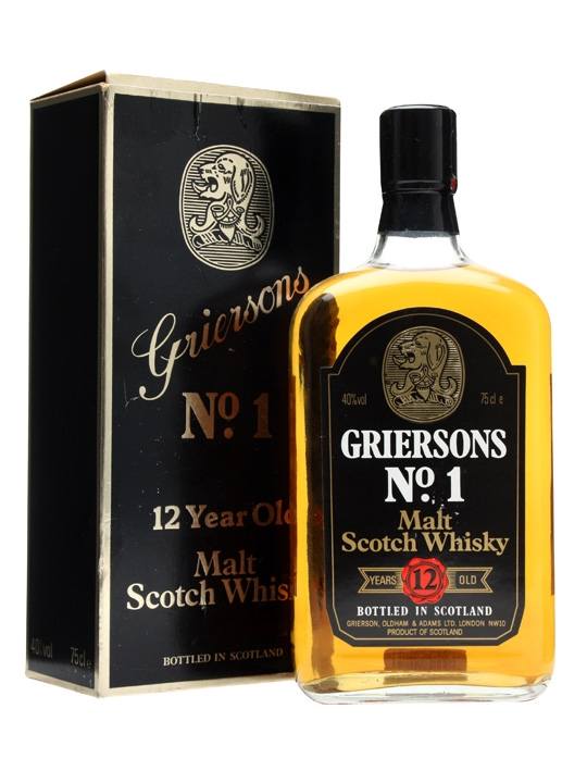 Griersons No.1 Blended Scotch / 12 Year Old / Bot.1980s Blended Whisky