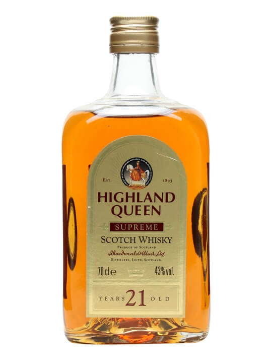 Highland Queen 21 Year Old Supreme / Bot.1980s Blended Scotch Whisky