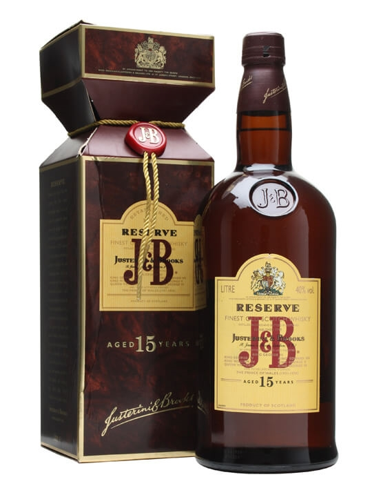 J & B 15 Year Old / Reserve / 1L Blended Scotch Whisky