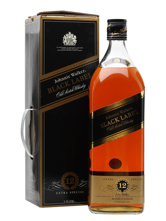 Johnnie Walker Black Label 12 Year Old / Big Bottle Blended Whisky