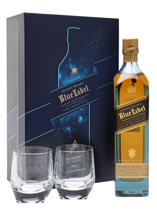 Johnnie Walker Blue Label Elite Glass Pack Blended Scotch Whisky