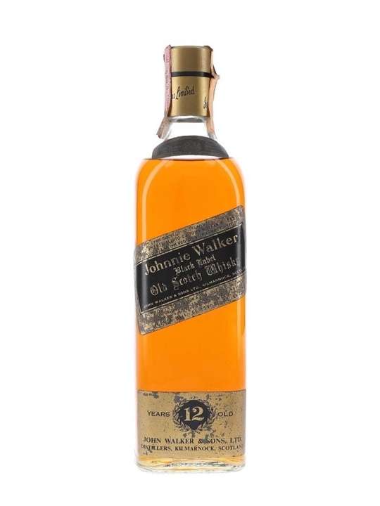 Johnnie Walker Black Label 12 Year Old Blended Scotch Whisky