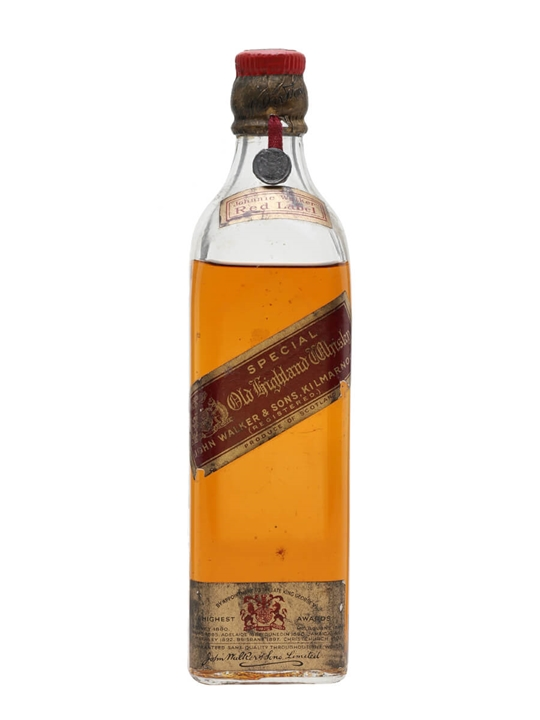 Johnnie Walker Red Label / Bot.1940s / Half Bottle Blended Whisky